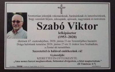 IN MEMORIAM SZABÓ VIKTOR / SZABADKA